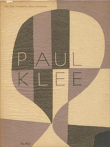 Paul Rand. Cover design, Paul Klee Prints and Drawings, MOMA, 1949