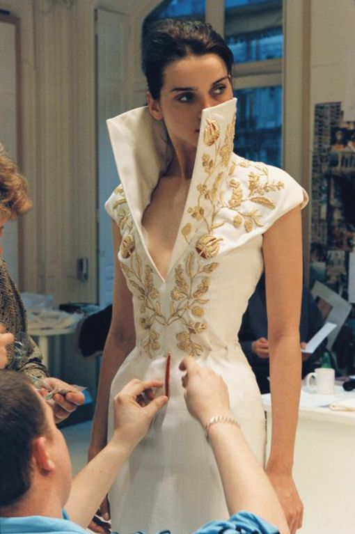McQueen at work during his Givenchy years, 1996-2001